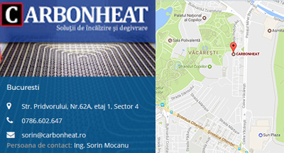 Harta CarbonHeat Contact Bucuresti